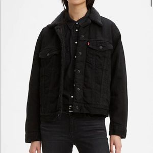 Levi's Ex-Boyfriend Sherpa Trucker Denim Jacket